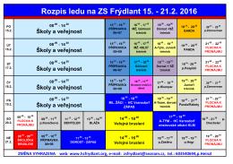 Rozpis ledu na ZS Frýdlant 15.