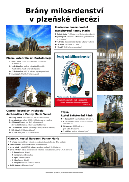 program v plzeňské diecézi v kostelích s branami milosrdenství