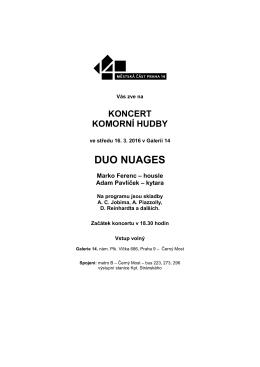 duo nuages - Praha 14