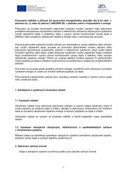 Posouzení nákladů a přínosů SZT EP