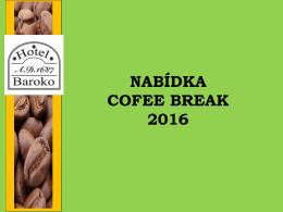 Nabídka Cofee Break 2016