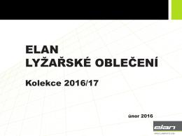 Katalog produktů Elan (oblečení)