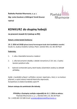 hoboj 2016 - Plzeňská filharmonie