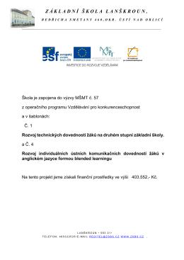 Projekt z EU