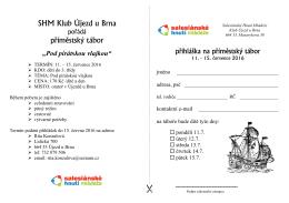 přihláška - SHM Klub Újezd u Brna