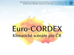Klimatické scénáře pro ČR