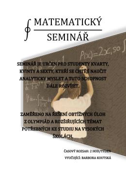 matematický seminář