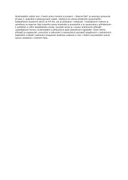 """Multimediální učební text """"Trestní právo hmotné a procesní"""