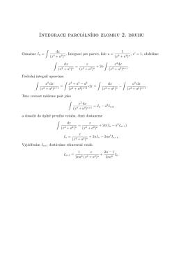 Integrace parciálního zlomku 2. druhu