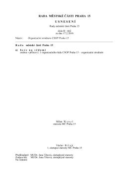 Obsah usnesení