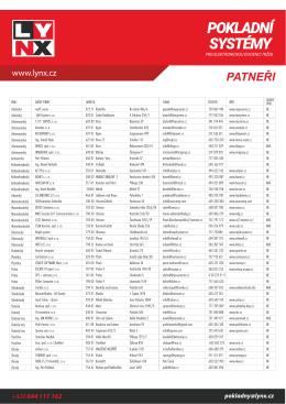Seznam partnerů