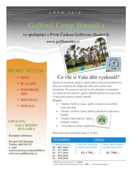 Golfový Camp Botanika