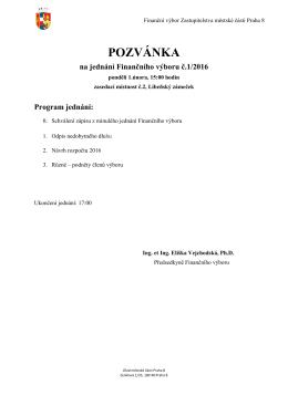 pozvánka - Praha 8