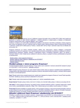 Erasmus+ - Husitská teologická fakulta