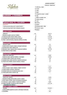 Denní menu alergeny 6