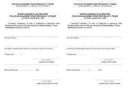 Page 1 POLICEJNÍ AKADEMIE ČESKÉ REPUBLIKY V PRAZE