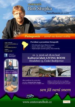 Plakat Patagonie - Kulturní klub LIVING ROOM