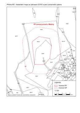 Příloha M3 - Katastrální mapa se zákresem ZCHÚ a jeho