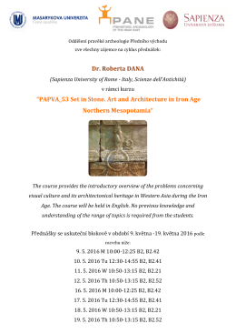 "Dr. Roberta DANA ""PAPVA_53 Set in Stone. Art and Architecture in"