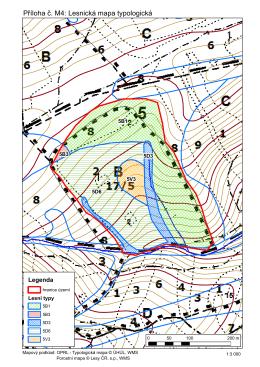 Příloha č. M4: Lesnická mapa typologická
