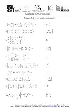 DUM MO 6 Algebraické výrazy