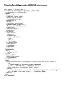 Příklad GovTalk obálky pro službu USRCERT15 ve formátu .xml