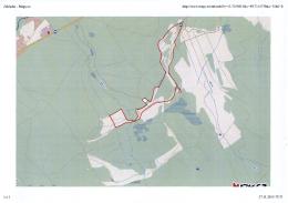 Mapa bezpečné zóny pro návštěvníky v prostoru Bahen