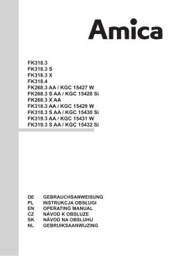 FK318.3 FK318.3 S FK318.3 X FK318.4 FK268.3 AA / KGC 15427 W