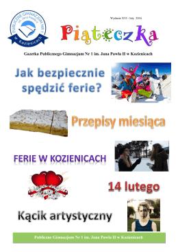 Publiczne Gimnazjum Nr 1 im. Jana Pawła II w Kozienicach Gazetka