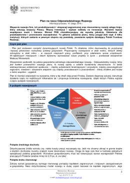 Plan na rzecz Odpowiedzialnego Rozwoju