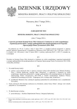 Poz. 8 - Ministerstwo Pracy i Polityki Społecznej