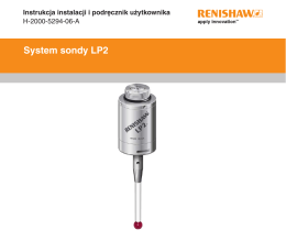 System sondy LP2 - Renishaw resource centre
