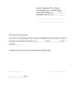 Konsul Generalny RP w Minsku
