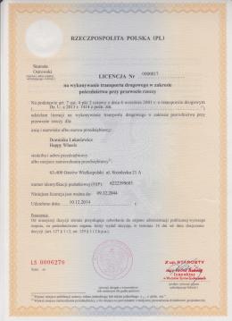 Licencja Dominika