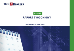 Raport Tygodniowy TMS Brokers