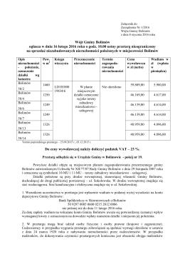 Wójt Gminy Bolimów ogłasza w dniu 16 lutego 2016 roku o godz