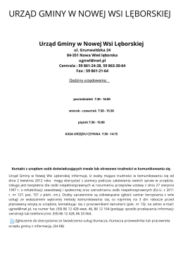 Urząd Gminy w Nowej Wsi Lęborskiej - Metryka
