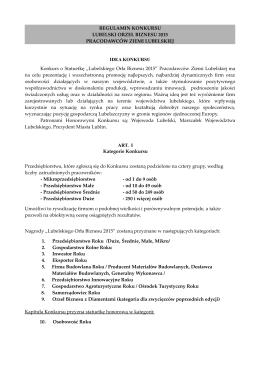 Regulamin LOB 2015