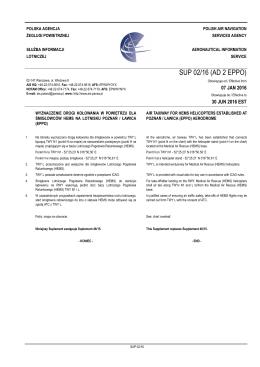 SUP 02/16 (AD 2 EPPO) - Służba Informacji Lotniczej