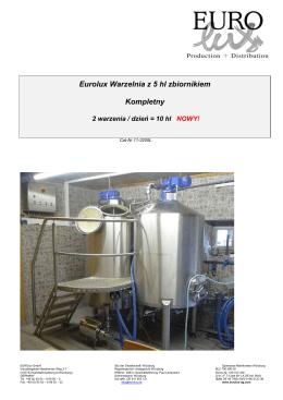 Eurolux Warzelnia z 5 hl zbiornikiem Kompletny