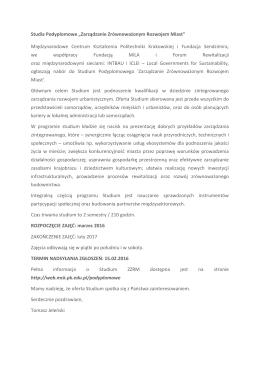 Zaproszenie - Forum Rewitalizacji