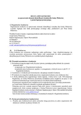 Regulamin konkursu - Pilchowice, Urząd Gminy
