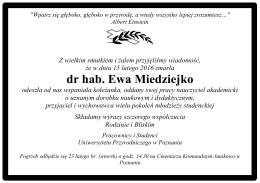 dr hab. Ewa Miedziejko