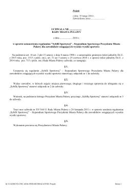 """""""Sybilli Sportowej"""" – Stypendium Sportowego Prezydenta Miasta"""
