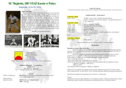 Staż - Polski Związek Karate