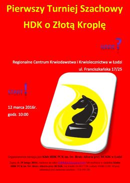 Pierwszy Turniej Szachowy HDK o Złotą Kroplę