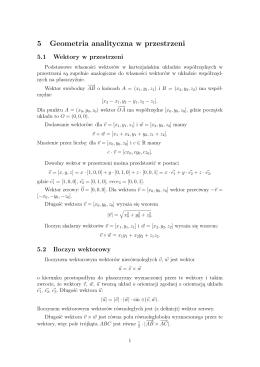 5 Geometria analityczna w przestrzeni