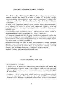 Regulamin - Instytut Muzyki i Tańca