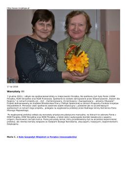 Warsztaty - mojeKGW.pl