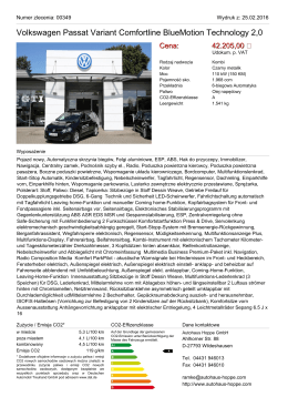 Volkswagen Passat Variant Comfortline BlueMotion Technology 2,0
